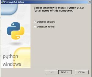 Execute o arquivo python-2.5.msi